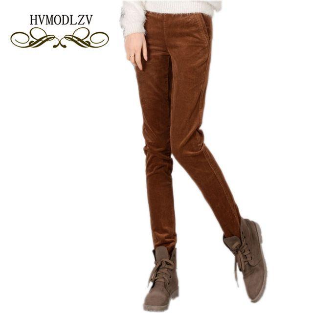 Hot Deals $23.99, Buy 2017 Autumn Winter Women Trousers Corduroy Long Pants Loose Plus velvet thickening Fashion Plus size Pencil Female Pants lj134