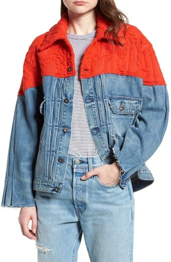 """cb25c278ffc Great for Levi s Made Craftedโ""""ข Native Mixed Media Trucker Jacket women s  coats Jacket online.   598  nanaclothing from top store"""