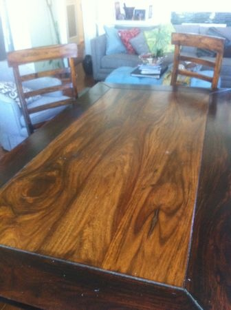 table ( 30tall 36in x 67in )  solid cherry wood in great condition, only a few little scraches - 200