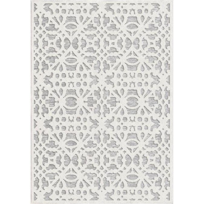 Orian Rugs Olenna 8 X 10 Natural Indoor Outdoor Floral Botanical Farmhouse Cottage Area Rug Lowes Com Farmhouse Outdoor Rugs Orian Rugs Area Rugs