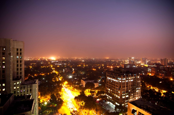 New Delhi from 17th floor, my office