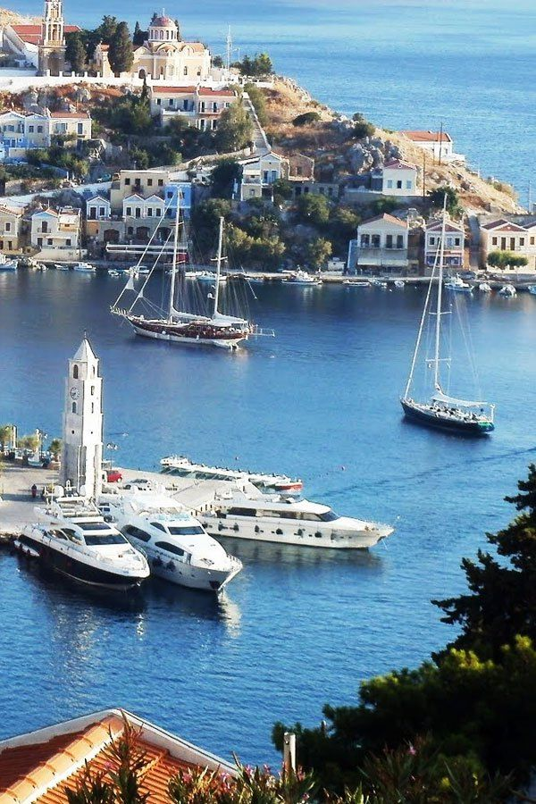 Symi Greece. Our tips for 25 Fun Places to Visit in Greece: http://www.europealacarte.co.uk/blog/2012/07/31/what-to-do-greece/