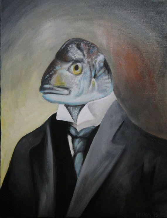 Mr. Fish acrylic painting