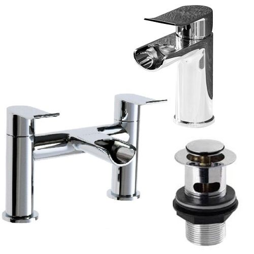 Luo Bathroom Tap Set Basin Tap Bath Tap - Product Code: LOU001-LOU002 only for £130.00