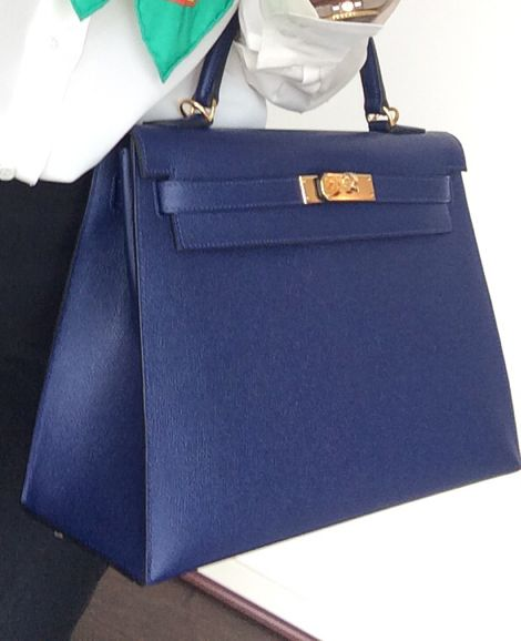 Hermes Kelly 32 sellier, bleu saphir in epsom. | Women\u0026#39;s Handbags ...