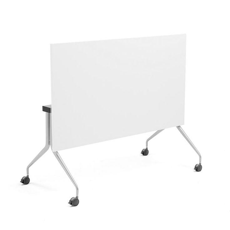 Sammenleggbart konferansebord Olivia, 1400x700 mm, hvit