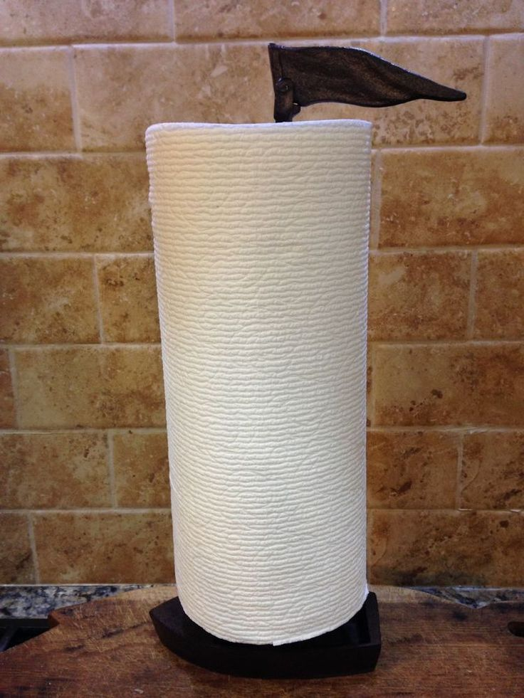 Rusty Brown Cast Iron Sailboat Paper Towel Holder Nautical Kitchen Galley Decor. ebsAmerica