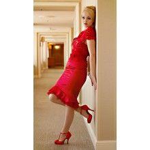 La Fille en Rouge Fishtail Skirt - $149.00