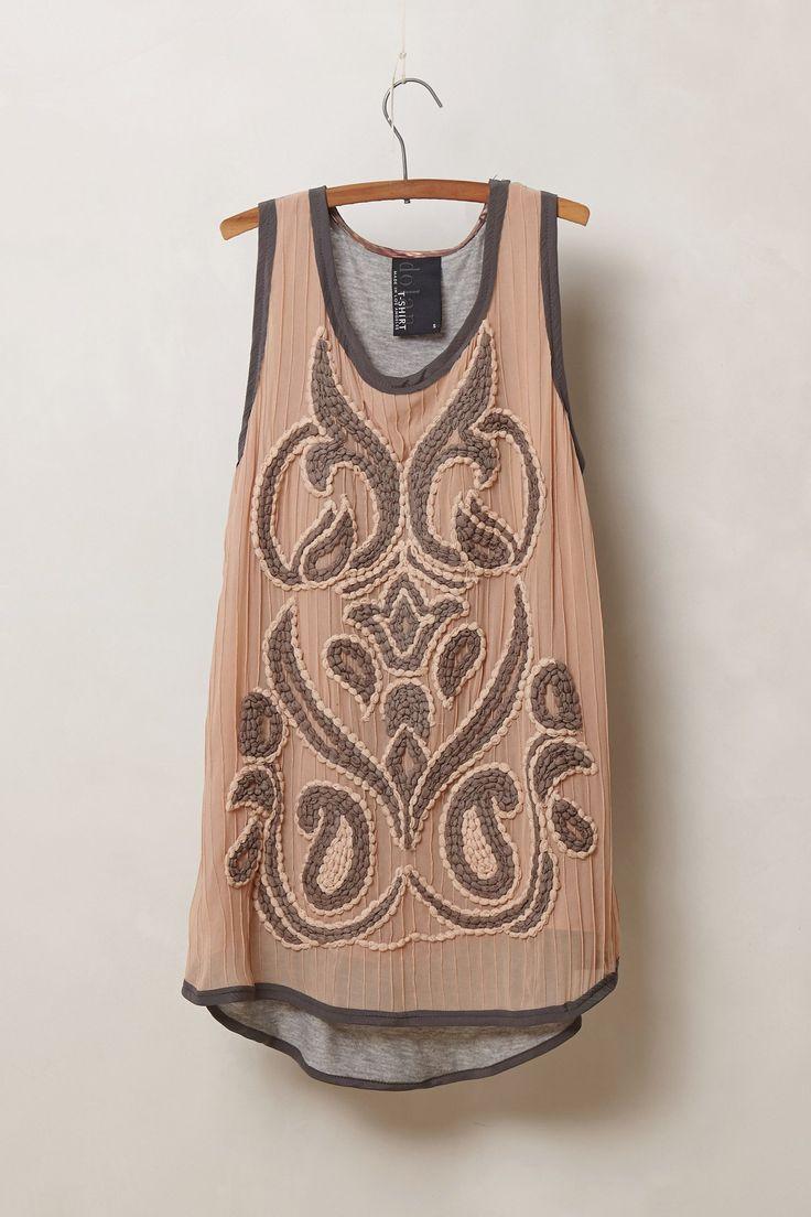 Acadia Top - Anthropologie.com Use alabama chanin stitching to emulate