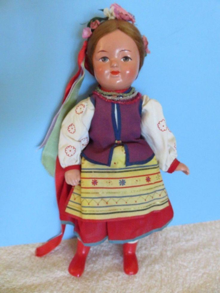 "50-60s Russia Russian Ukraine Ukrainian 11"" MINT Soviet Union COMPO & CLOTH USSR in Dolls & Bears, Dolls, By Type, Cultures & Ethnicities | eBay"