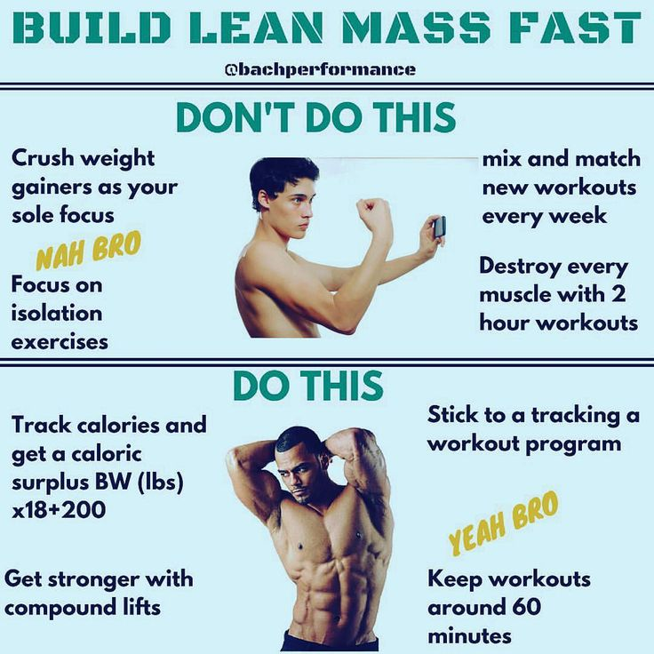 """BUILD LEAN MASS FAST by @Bachperformance . Finally, remember this saying from the great Lee Haney, """" stimulate, don't annihilate."""" There's only so much muscle you can build so fast. Get in the gym, get stronger, get a pump, then get out in about 60 minutes. . Muscle building isn't complicated, but it's not easy either. Get stronger, eat more, and sleep. Focus on these components."""