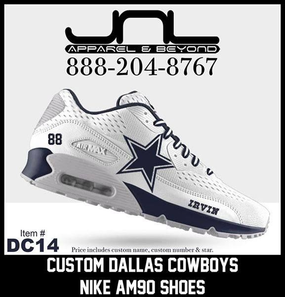 premium selection d493f a9aec get dallas cowboys custom nike air max shoes e3397 2ca23