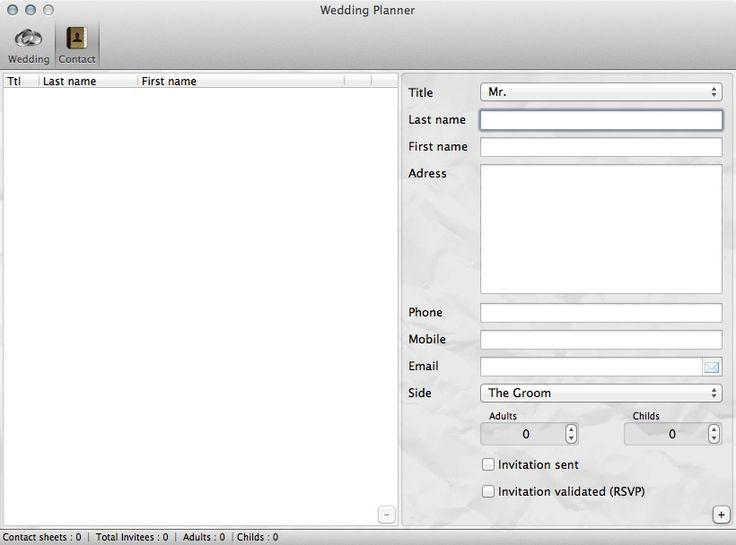 Wedding Planner 1.0.6 contact list