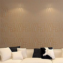 hedendaagse mode brief wallpaper art deco 0.53M * 10m wandbekleding niet-geweven papier kunst aan de muur | LightInTheBox