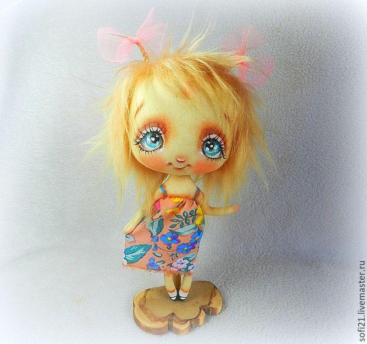Купить Мамочка, смотри - лето! - комбинированный, кукла, авторская кукла, текстильная кукла, интерьерная кукла