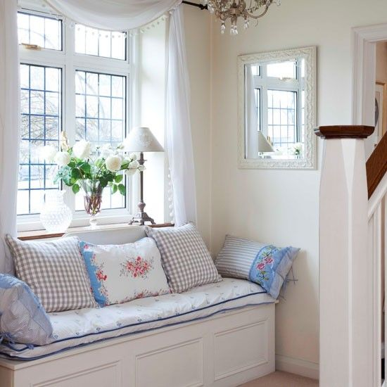 Nook: Window Benches, Decor Ideas, Interiors Design, Windowseat, Reading Nooks, House, Small Hallways, Hallways Ideas, Window Seats