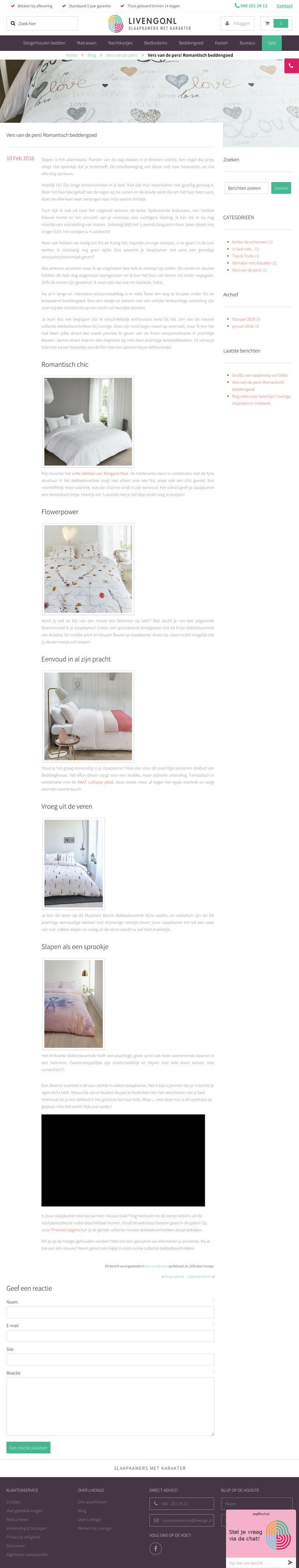 Blog: Vers van de pers! Romantisch bedlinnen | http://www.livengo.nl/blog/2016/02/10/vers-van-de-pers-romantisch-beddengoed | #blog nieuwe #dekbedovertrekken #lentecollectie #livengo
