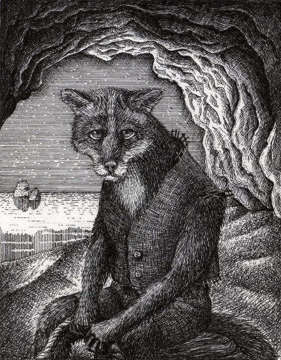 Fox Illustration by BeastsandBirdies on Etsy, £50.00