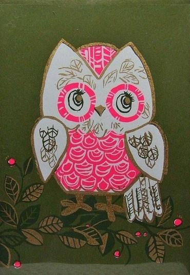 Vintage 1960's Owl Illustration