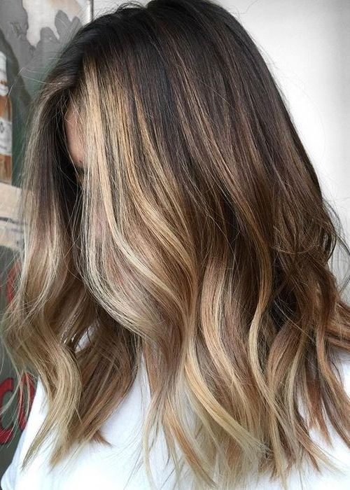 Dark To Blonde Balayage Hair Naturally Dark Hair Color Ideas For Medium Length