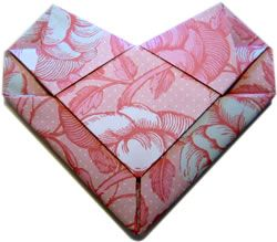 How to make an origami heart envelope. I've been wondering how to do this!
