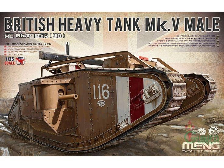 Meng, British Mark V male, heavy tank.
