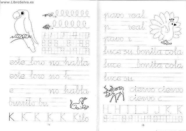Cuadernos de escritura y caligraf a RUBIO