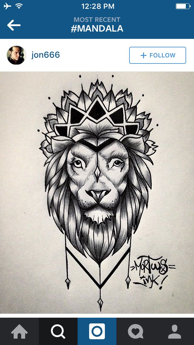 Lion Mandala Tattoos Pinterest Mandalas Love This And Eyes