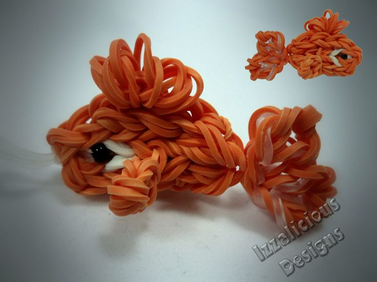 Rainbow Loom Tutorial : Goldfish Charm using a single loom