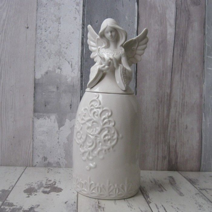 Angel porcelain storage pot is available on www.graangels.ie