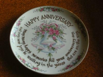 Anniversary plate  Годовщины пластина