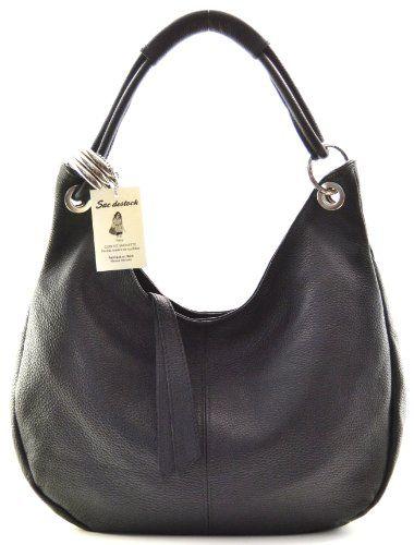 """SAC DESTOCK - Sac à Main CUIR """"Grainé"""" - Réf: LA PAZ / Nouvelle Colllection / Promotion / Handbag Leather (NOIR) B009EEVXHW - http://www.elbloc.eu/sac-destock-sac-a-main-cuir-graine-ref-la-paz-nouvelle-colllection-promotion-handbag-leather-noir-b009eevxhw.html"""