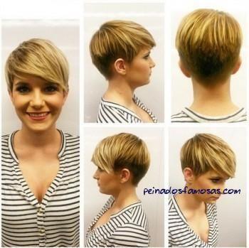 Corto Cortes de pelo con flequillo - Peinados cortos para Cara del corazón o Ronda forma de la cara