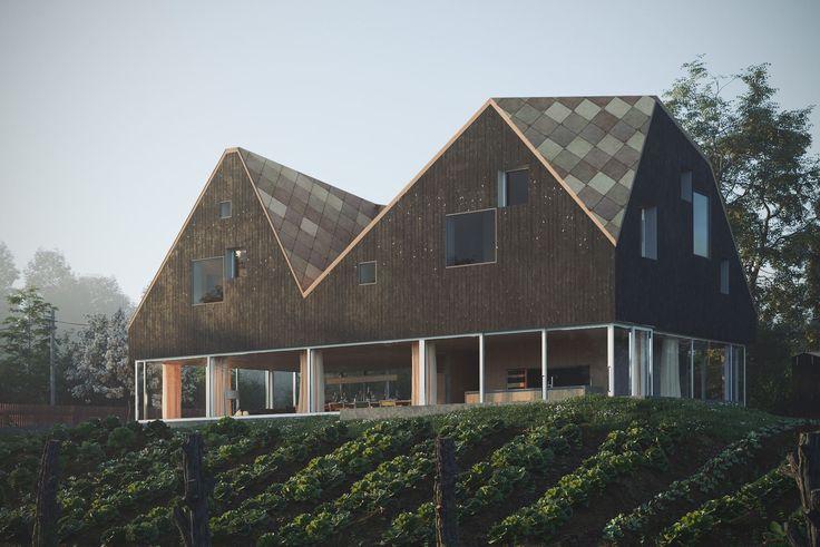 A imagem pode conter: casa, céu, árvore, planta, atividades ao ar livre e natureza