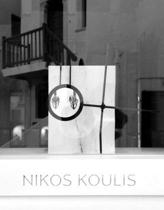 Shop window displays for Nikos Koulis Mykonos 2014