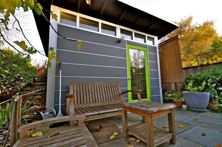 Studio shed home office in the garden for Garden shed music studio