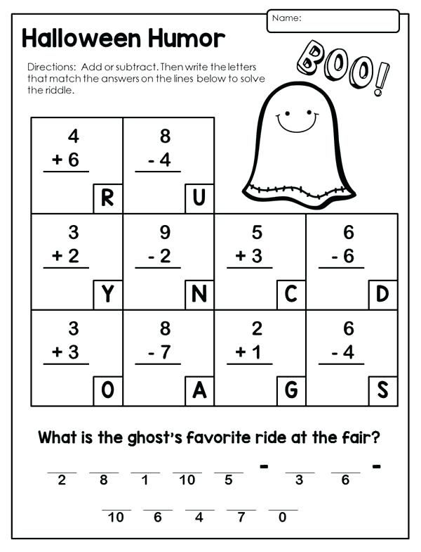 2nd Grade Worksheets Best Coloring Pages For Kids Halloween Math Worksheets 2nd Grade Worksheets Halloween Worksheets