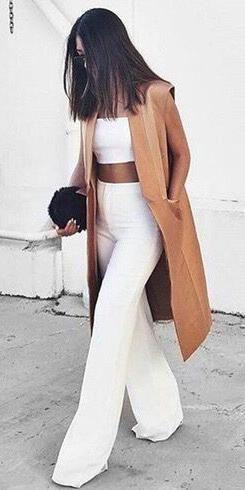 white + camel. minimal style.