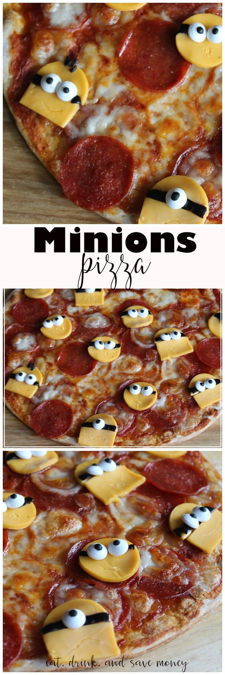 Minions Pizza is perfect for a family movie night. Watch Minions or the Despicable Me movies, and enjoy family time with delicious minions food. The pizza is easy to make with simple ingredients. It's fun for a party too!