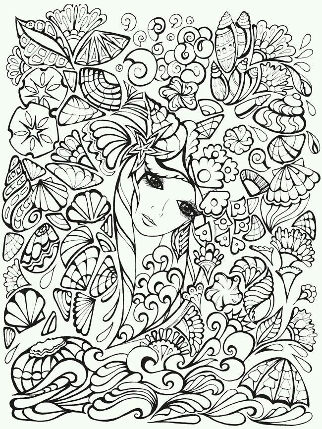 Dover Publications Creative Haven Fanciful Faces Coloring Book Find This Pin And