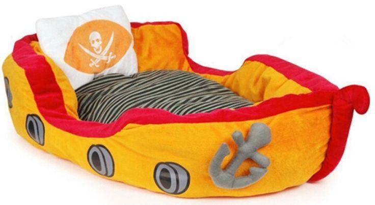Super: piratenschip bed voor je viervoeter