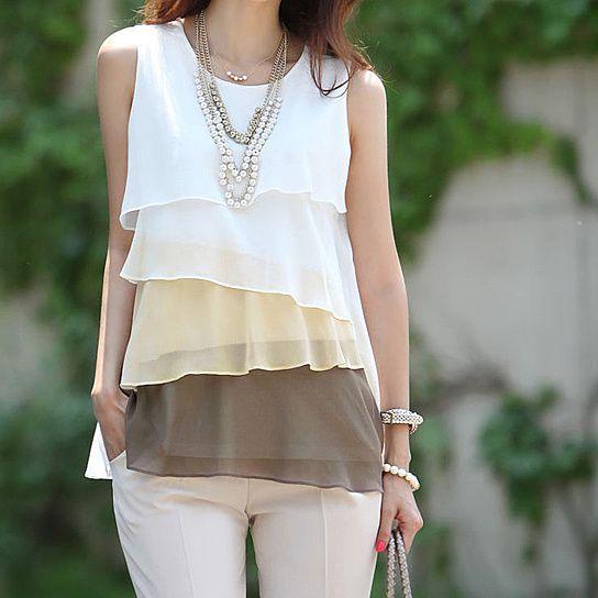 Chiffon Sundress Tops Shirt from simplityfashion $42 - opensky.com