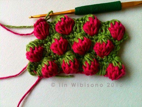 crochet rockstar: Strawberry Stitch Tutorial - Erdbeeren mit Häkelschrift