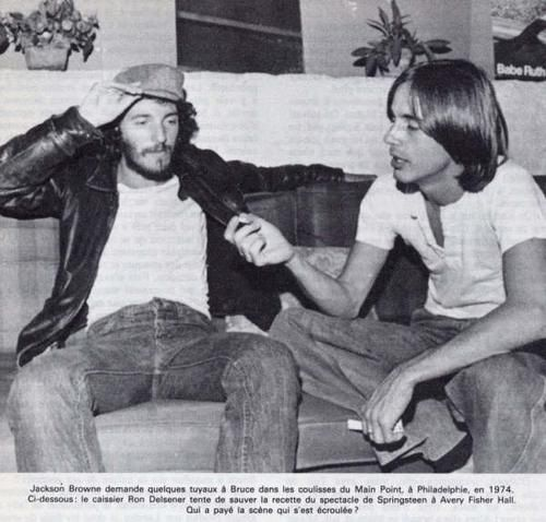 Bruce Springsteen and Jackson Browne.