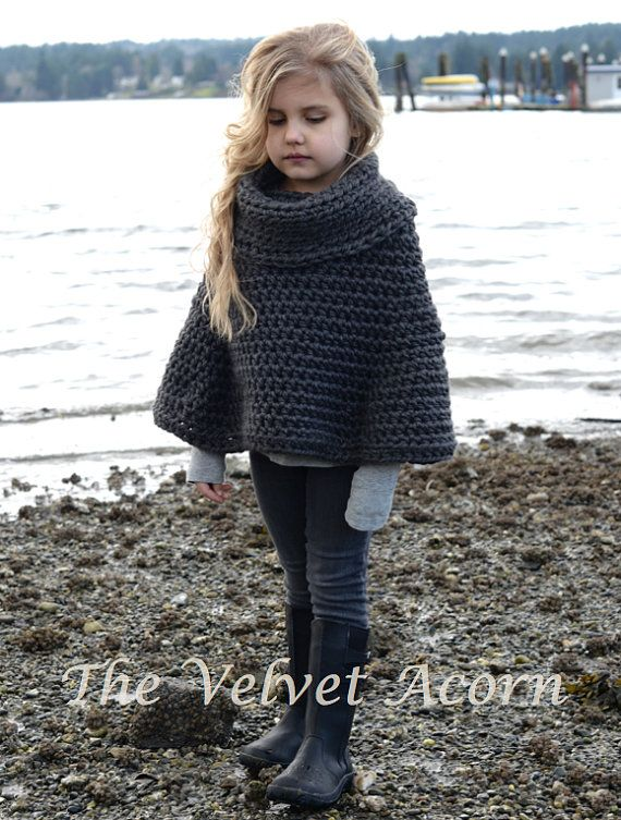 CROCHET Pattern Agate Cape 2 3/4 5/7 8/10 11/13 by Thevelvetacorn