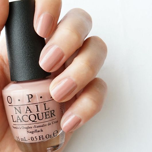 OPI A15 Dulce De Leche (light beige-pink, slightly smoky)