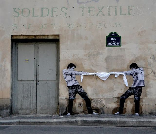 Levalet street art, Paris