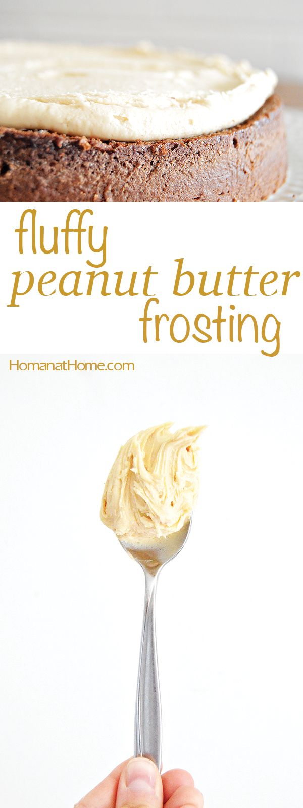 Fluffy Peanut Butter Frosting| Homan at Home