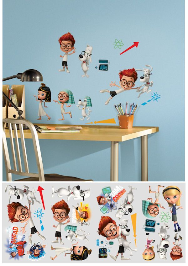Mr Peabody And Sherman Peel And Stick Wall Decals   Wall Sticker Outlet