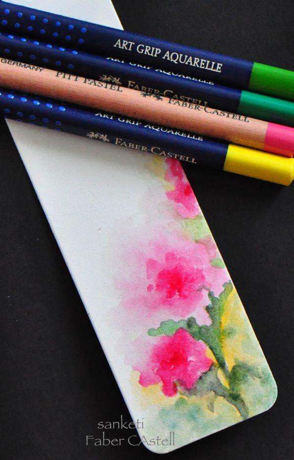 Wasserfarbe Aquarell Stifte Lesezeichen                              …